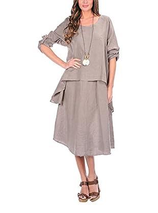100% Lino Kleid Pipper