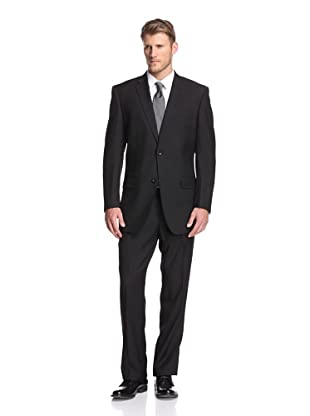 Martin Gordon Men's Basic Notch Lapel Suit (Black)