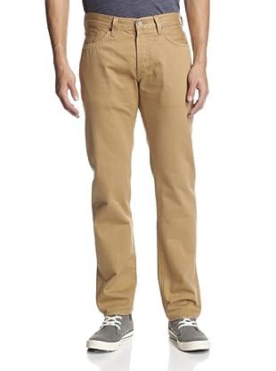 Levi's Made & Crafted Men's Ruler Straight Leg Selvedge Jean (Khaki)