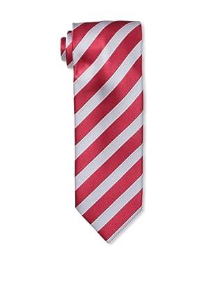 Massimo Bizzocchi Men's Dual Stripe Tie, Red