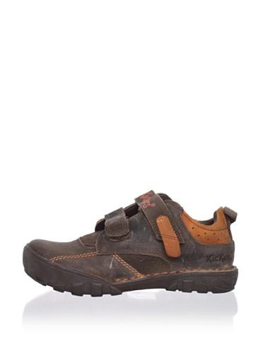 Kickers Kid's Rambo Sneaker (Toddler/Little Kid) (Burgundy/Orange)