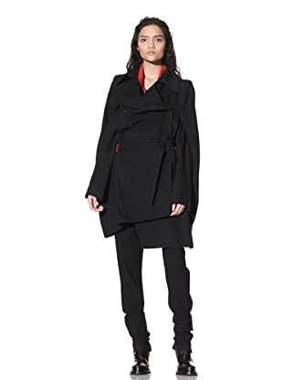 Ann Demeulemeester Women's Franklyn Cape with Removable Sleeves (Black)