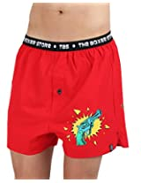 The Boxer Store's Gun Faad Hain Boxer for Men - Red (Small)