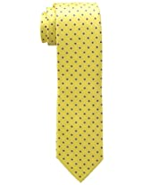 Tommy Hilfiger Men's Dot Doug Tie, Yellow, One Size