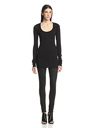Rick Owens Lilies Women's Long Sleeve Top (Black)