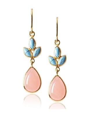Eddera Turquoise and Peach Agate Earrings