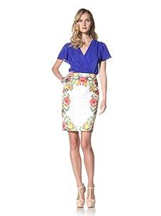 Yoana Baraschi Women's Tropical Printed Pencil Skirt (Shell/Multi)