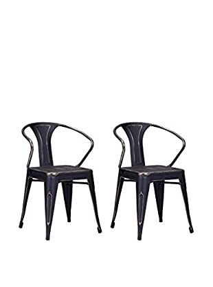 Zuo Modern Helix Set of 2 Industrial Dining Chairs