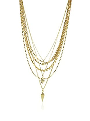 Ettika 18K Gold-Plated Seaweed Chain Necklace