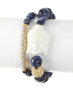 Devoted Set of 2 Dark Blue Buddha Bracelets