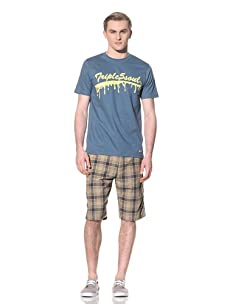 Triple 5 Soul Men's Drip Soul Tee (Dusty Blue)