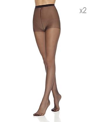 DIM  Pack X 2 Panties Puntera Reforzada (Negro)