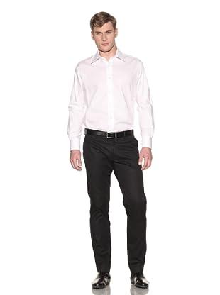 Valentino Men's Dress Shirt (White Chevron)