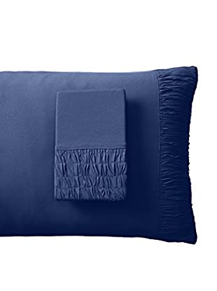 lazybones Rosette Standard Pillowcases, Indigo