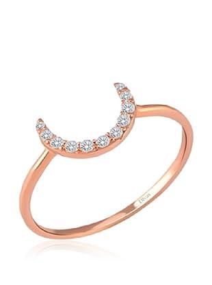 Divas Diamond Anillo Gemstone Half Luna (Oro)