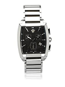 Versace Men's Tonneau Stainless Steel Bracelet Chronograph Watch
