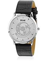 DD3057WT01 Black/White Analog Watch Dvine