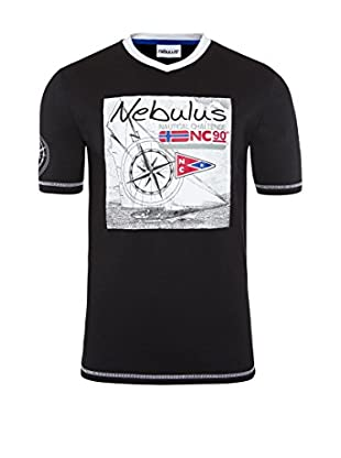 Nebulus Camiseta Manga Corta Lines Negro XL