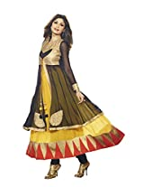 Adah Fashions Womens Georgette Anarkali Dress Material (501-6009 _Yellow _42)