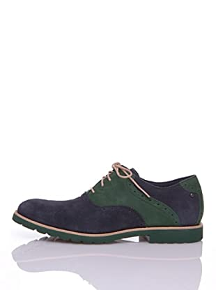 Rockport Zapatos Casual Lh Saddle (Azul / Verde)