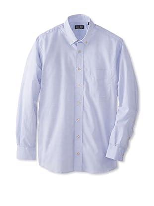 Gitman Blue Men's Solid Sportshirt (Powder Blue)