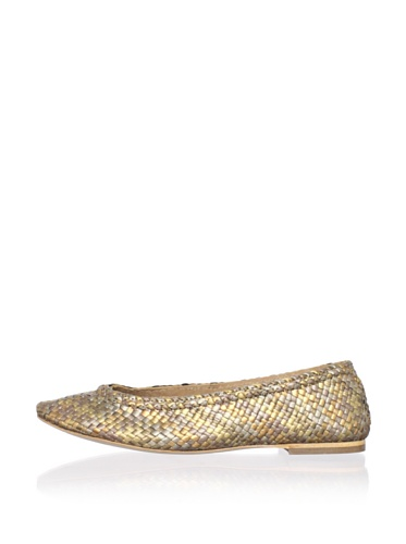 Plenty by Tracy Reese Women's Emely Ballet Flat (Bronze/GOLD)