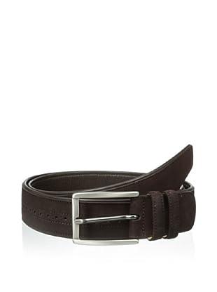 Mezlan Men's Suede Belt (Dark Brown)
