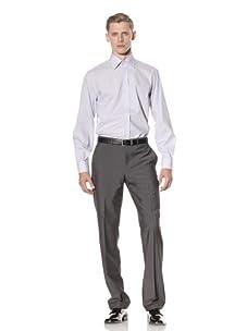 Yves Saint Laurent Men's Stripe Shirt (White/Blue)