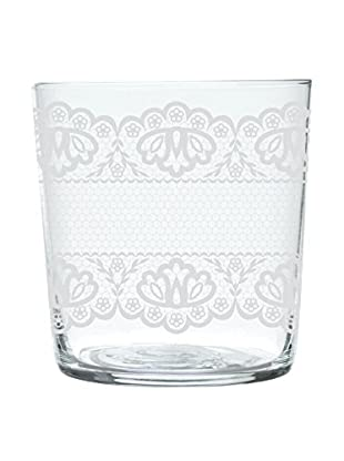 Molecuisine Glas 6er Set Lace transparent/weiß