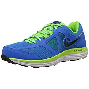 Nike Men's Dual Fusion Lite 2 Msl Photo Blue,Black,Electric Green,White  Running Shoes -8 UK/India (42.5 EU)(9 US)