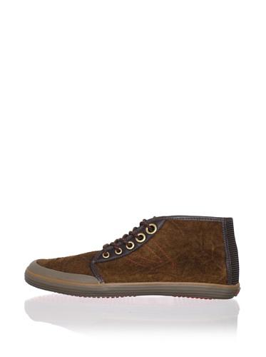 Tretorn Men's Krona Mid Leather Chukka Sneaker (Sundown Brown)