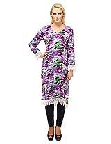 Suhi Womens Rayon Purple XX-Large Kurta