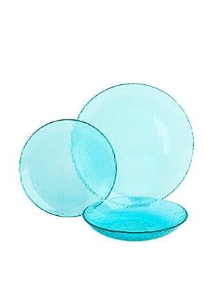 Molecuisine Geschirr 12 tlg. Set Scratch himmelblau