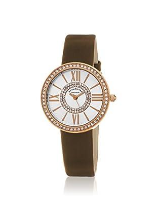 Stührling Women's 566.05 Chic 566 Brown/Silver Stainless Steel Watch