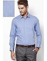 Blue Checks Slim Fit Formal Shirt