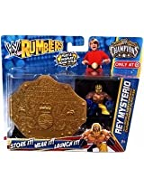 WWE Wrestling Rumblers Exclusive Rey Mysterio with World Heavyweight Championship Playcase