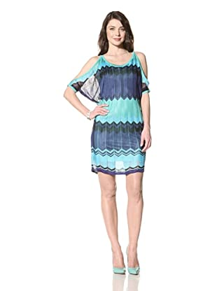 Hale Bob Women's Cold Shoulder Dress (Blue)