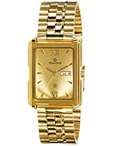Maxima Formal Gold Analog Gold Dial Men's Watch - 06814CMGY