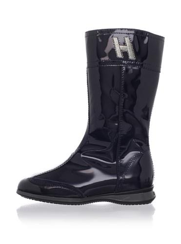 Hogan Kid's Tall Patent Boots (Navy)