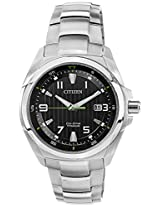 Citizen Eco-Drive Analog Black Dial Men's Watch BM6880-53E