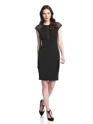 Rachel Roy Women's Spider Mesh Dress (Black)