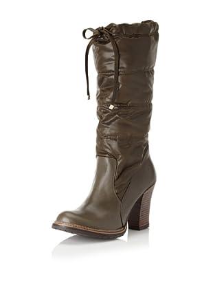ALL BLACK Women's Moonwalk Knee-High Boot (Green)