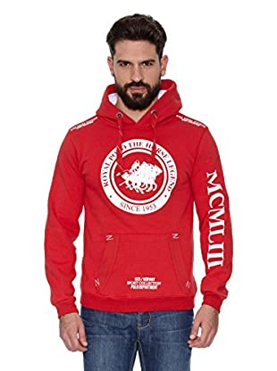 Geographical Norway Sudadera Filgerade Men Contrast (L) (Rojo / Blanco)