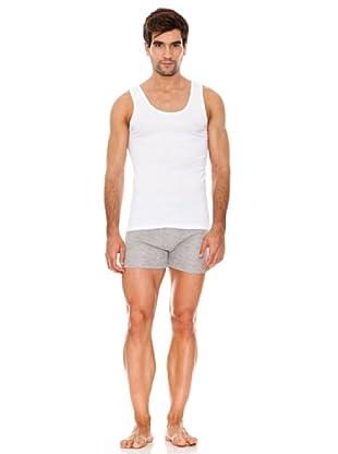 Abanderado Camiseta De Tirantes Sport Caballero Pack6 (Blanco)