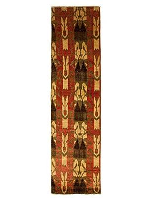 Darya Rugs Ikat Oriental Rug, Olive, 2' 7