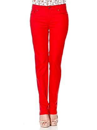 Cortefiel Hose Diagonal (Rot)