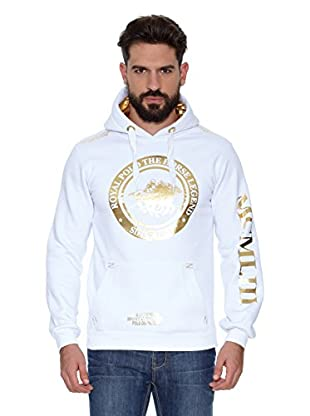 Geographical Norway Sudadera Filgerade Men Contrast (L) (Blanco / Dorado)