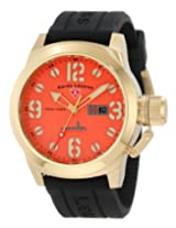 Swiss Legend Men's 10543-YG-06 Submersible Orange Dial Watch