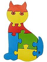 Skillofun Take Apart Baby Puzzle Large -Cat, Multi Color