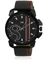 KILLER Black Dial Analogue Watch for Men (KLW5003C_New1)